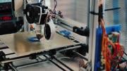3d printer in printing 3d model