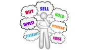 Buy Sell Hold Investments Thinker Thought Clouds 3d Animation