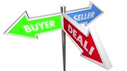 Buyer Seller Negotiate Deal Sold Customer Signs 3d Animation