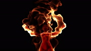 3d female burning in flames