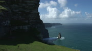 4k Shot of Cliffs of Moher View in Ireland