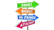 Free Bonus No Strings Attached Signs Words 3d Animation