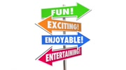 Fun Exciting Entertaining Enjoyable Signs Words 3d Animation