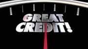 Great Credit Score Report Improve Increase Speedometer 3d Animation