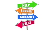 Help Support Guidance Relief Assistance Words Signs 3d Animation
