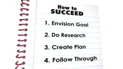 How to Succeed Plan Research Follow Through 3d Animation