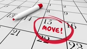 Move Date Day Moving Relocation Calendar Word Circled 3d Animation