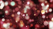 Colorful animated particles moving on abstract background-
