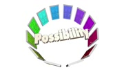 Possibility Doors Circle Future Potential Opportunity 3d Animation