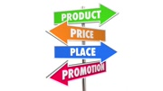 Product Price Place Promotion 4 Ps Marketing Signs 3d Animation