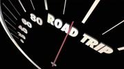Road Trip Travel Vacation Transportation Speedometer 3d Animation