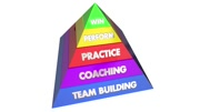 Team Building Coaching Practice Performance Win Pyramid 3d Animation