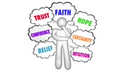Trust Faith Hope Confidence Thinking Person Thought Clouds 3d Animation