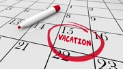 Vacation Date Travel Day Trip Circled Calendar 3d Animation