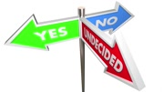 Yes No Undecided Three Way Signs Unsure 3d Animation