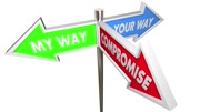 Your My Way Compromise 3 Way Signs 3d Animation