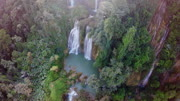 Jungle waterfall aerial