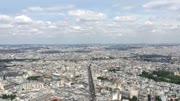 City of Paris Shot From Montparnasse Tower, 4k