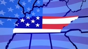 Tennessee TN USA Flag United States America 3d Animation