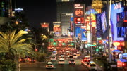 Traffic on the vegas strip on amazing timelapse